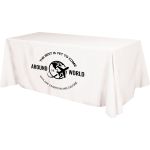 4 Sided Budget Polyester Table Cover - 6 foot