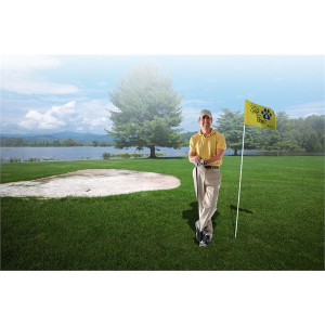 Golf Flag with Tube (Single-Sided)